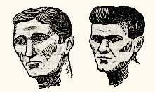 Павел Канунников и Сергей Бухтеев. Рисунки 1923 года