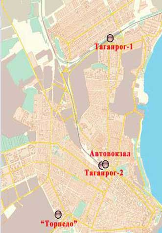 карта города Таганрог и