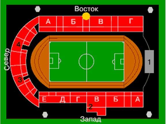 Схема стадион локомотив москва