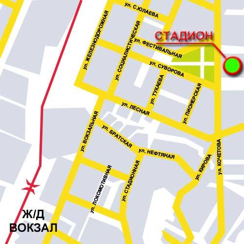 Схема проезда к стадиону